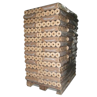 Dřevěné brikety Energo válec s dírou