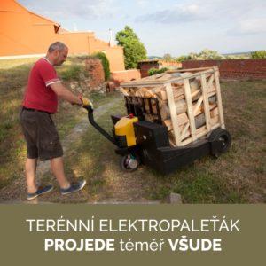 Doprava paliva terénním elektropaleťákem