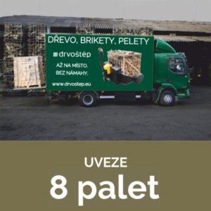 nákladní auto uveze 8 palet