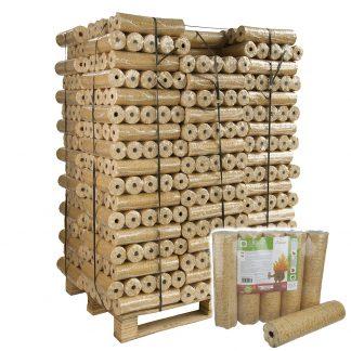 válcové dřevěné brikety WOOD s dírou